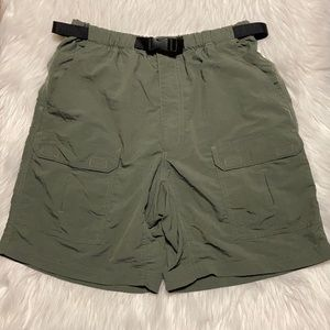 Royal Robins Outdoor Travel and Clothing - Army Green Hiking Shorts with Belt